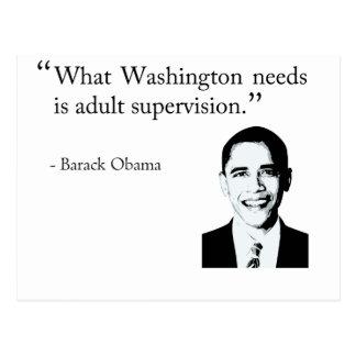 Washington needs adult supervision postcard
