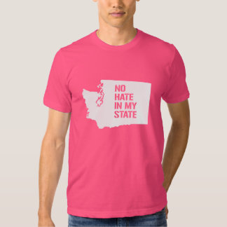 Washington: Ningún odio en mi estado Playera