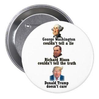 Washington, Nixon and Trump Pinback Button