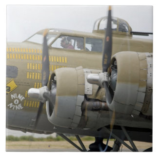 Washington, Olympia, airshow militar. 2 Azulejo Cuadrado Grande