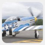 Washington, Olympia, airshow. militar Calcomanía Cuadradas Personalizadas