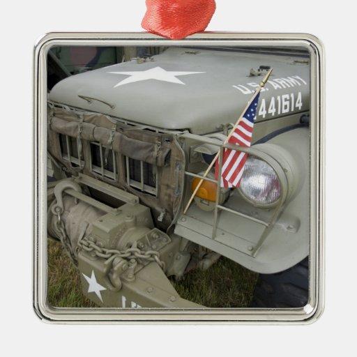 Washington, Olympia, military airshow. 2 Christmas Tree Ornaments