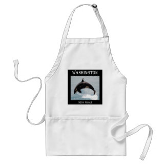 Washington Orca Whale Adult Apron