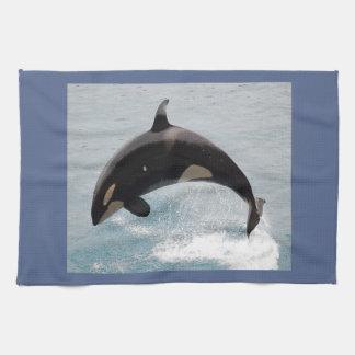 Washington Orca Whale Hand Towel