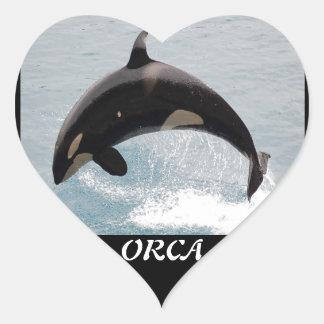 Washington Orca Whale Heart Sticker