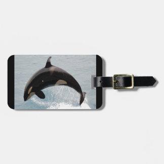 Washington Orca Whale Travel Bag Tags
