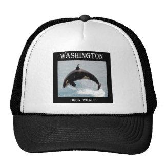 Washington Orca Whale Trucker Hats
