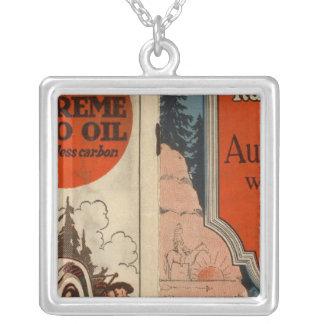 Washington, Oregon auto trails Silver Plated Necklace