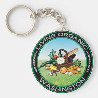 Washington orgánico llavero redondo tipo pin