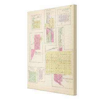 Washington, Palmer, Linn, Barnes, Morrow, Kansas Impresión En Tela