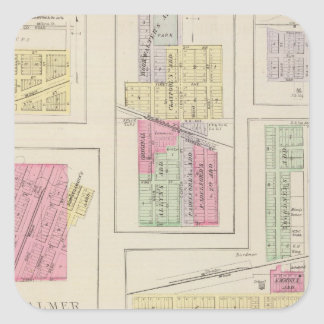 Washington, Palmer, Linn, Barnes, Morrow, Kansas Square Sticker