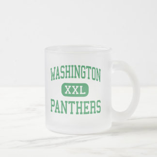 Washington - Panthers - High - South Bend Indiana Frosted Glass Coffee Mug