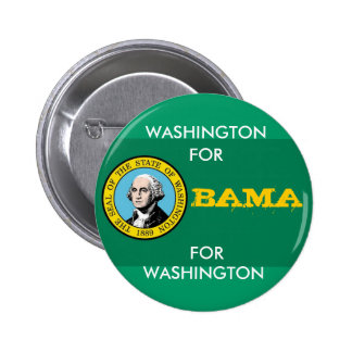 WASHINGTON PARA el botón de OBAMA Pin