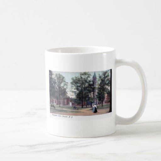 Washington Park, Newark NJ 1906 Vintage Classic White Coffee Mug