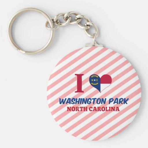 Washington Park, North Carolina Basic Round Button Keychain