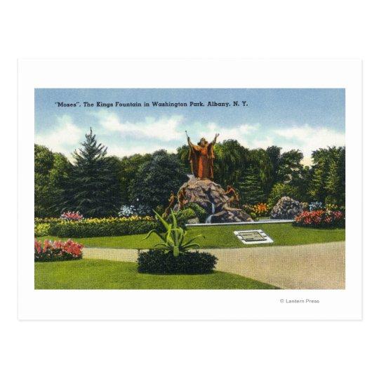 Washington Park View of the Kings Fountain, Postcard