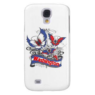Washington Patriotism Butterfly Galaxy S4 Case