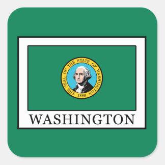 Washington Pegatina Cuadrada