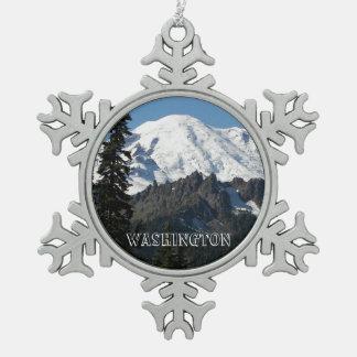 Washington Pewter Snowflake Ornament