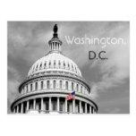 Washington, postal blanco y negro de la bandera de