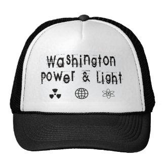 Washington Power and Light, White Trucker Hat