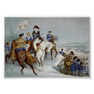 Washington preparing to cross the Delaware Poster
