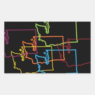 washington pride blur rectangular sticker