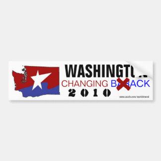 Washington que cambia detrás 2010 pegatina para auto