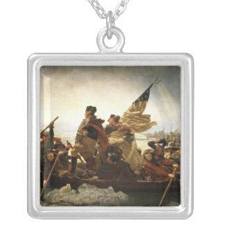 Washington que cruza el Delaware - 1851 Colgante Cuadrado