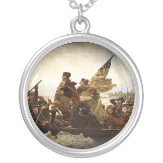 Washington que cruza el Delaware - 1851 Collar Plateado