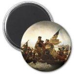 Washington que cruza el Delaware - 1851 Imán De Frigorífico