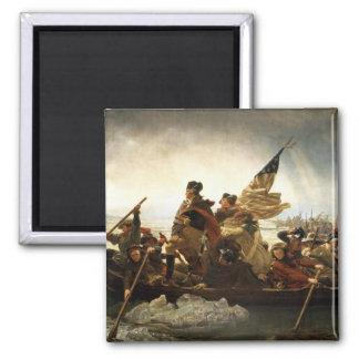 Washington que cruza el Delaware - 1851 Imán Cuadrado