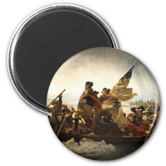 Washington que cruza el Delaware - 1851 Imán Redondo 5 Cm