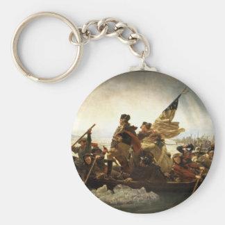 Washington que cruza el Delaware - 1851 Llavero Redondo Tipo Pin
