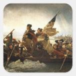 Washington que cruza el Delaware - 1851 Colcomanias Cuadradas