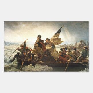 Washington que cruza el Delaware - 1851 Pegatina Rectangular