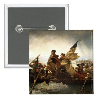 Washington que cruza el Delaware - 1851 Pin Cuadrada 5 Cm