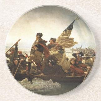 Washington que cruza el Delaware - 1851 Posavaso Para Bebida
