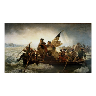 Washington que cruza el Delaware - 1851 Póster