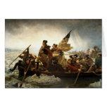 Washington que cruza el Delaware - 1851 Tarjeta Pequeña