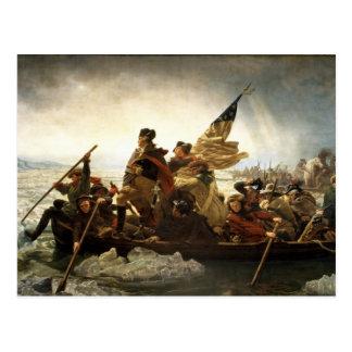 Washington que cruza el Delaware - 1851 Tarjetas Postales