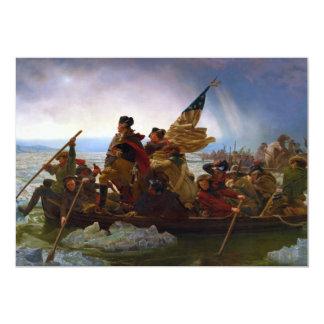 """Washington que cruza el Delaware de Manuel Leutze Invitación 5"""" X 7"""""""