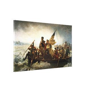 Washington que cruza el Delaware de Manuel Leutze Lienzo Envuelto Para Galerías