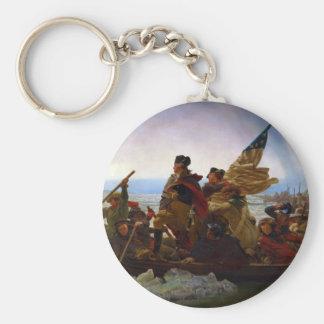 Washington que cruza el Delaware de Manuel Leutze Llavero Redondo Tipo Pin