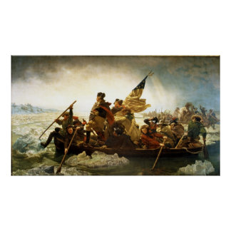 Washington que cruza el Delaware de Manuel Leutze Posters