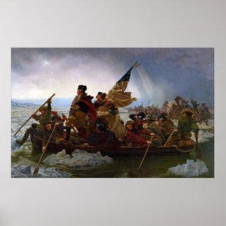 Washington que cruza el Delaware de Manuel Leutze Impresiones