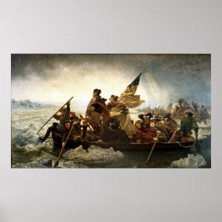 Washington que cruza el Delaware de Manuel Leutze Poster