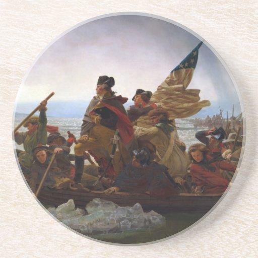 Washington que cruza el Delaware de Manuel Leutze Posavasos De Arenisca