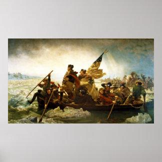 Washington que cruza el Delaware de Manuel Leutze Póster