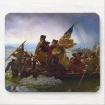 Washington que cruza el Delaware de Manuel Leutze Alfombrillas De Ratones